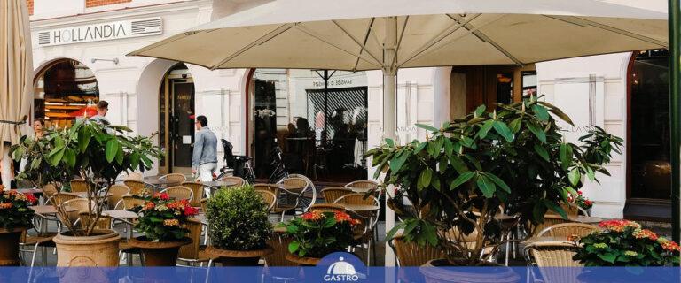 Wyposażenie ogródka restauracyjnego
